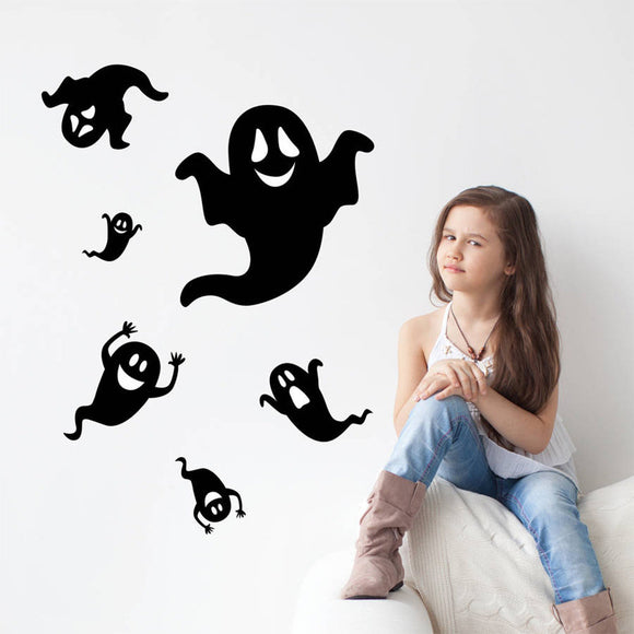 Halloween Kids Room Bedroom Backdrop Stickers Customized Who