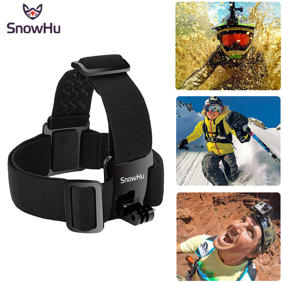 Head Strap Action Camera For Gopro Hero 5 4 3 Black Elastic Type