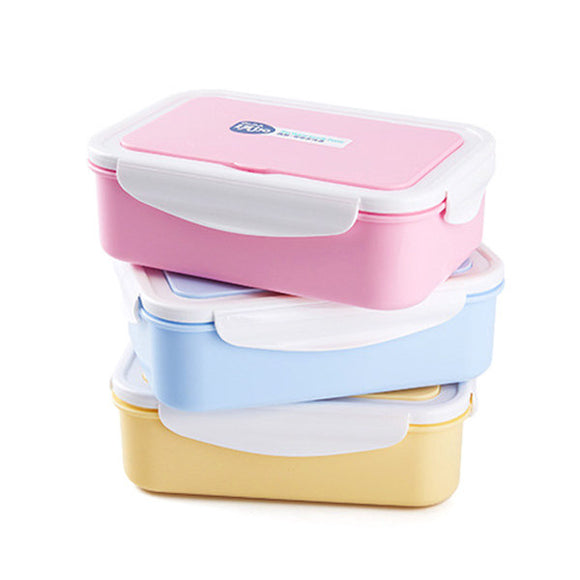 Microwave Oven Lunch Box with Spoon and Fork