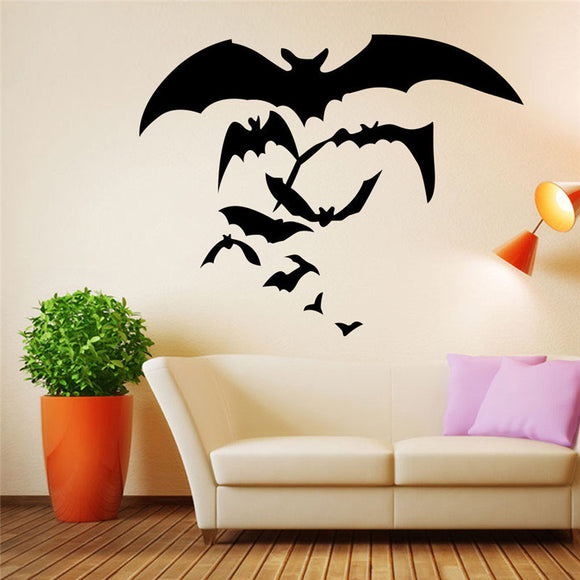 Halloween Carved Series of Bat Wall Stickers