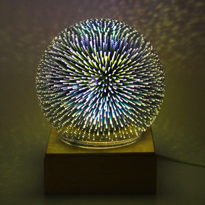Magical USB Sphere Lightning Lamp Light Party Glass Colorful Ball