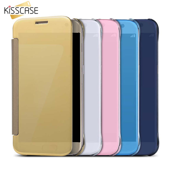Plated Mirror Case For Samsung Galaxy S7 S6 Edge S8 S8 Plus