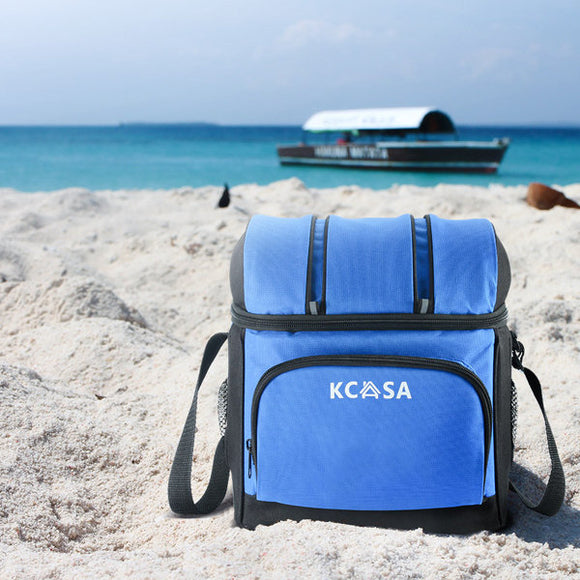 KCASA KC-CB01 12-can Soft Cooler Bag Travel Picnic Beach Camping Food Container Bag With Hard Liner