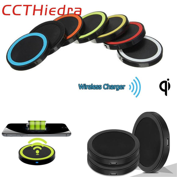 CCTHiedra Brand Mini Qi Wireless Charger USB Charging Pad for iPhone 5 6 7 plus Samsung Galaxy S 2 3 4 Note 2 3 4 Nokia Lumia 92