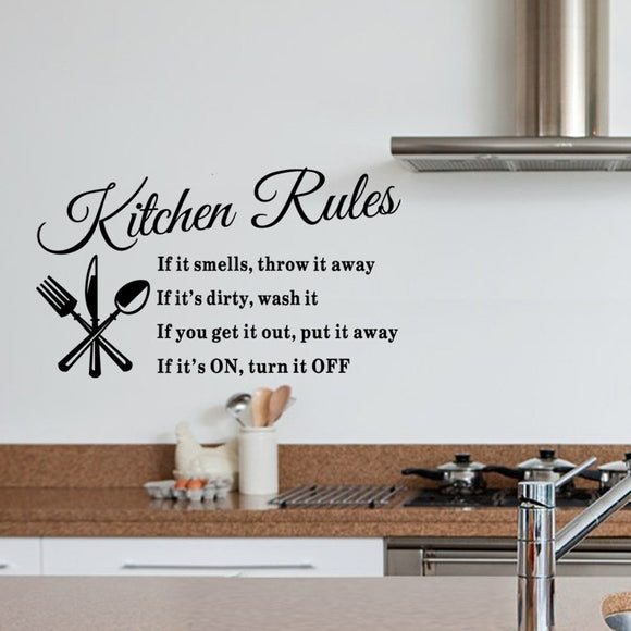 Kitchen Rules Wall Stickers Kitchen Restaurant Wall Stickers Home Decoration