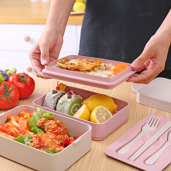 2/3 Layers Portable Bento Lunch Box