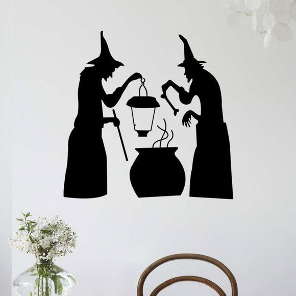 Halloween Witch Lights Stickers