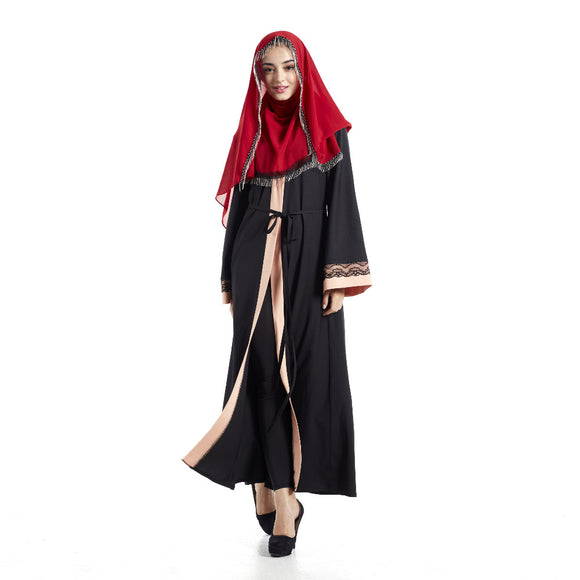 Women  Turkish Islamic Muslim Abaya Dress Cardigan Long Sleeve Robes