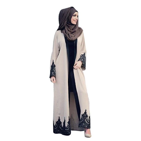 New Abaya For Women Lace Long Sleeve  Islamic Turkish Women Clothing Robe Dress