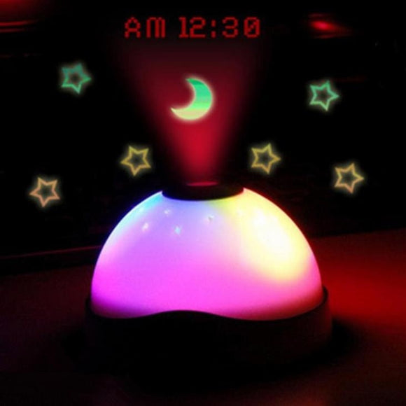 Hot Sales Starry Moon Digital Magic LED Projection Alarm Clock Night Light Color Changing Horloge Reloj Despertador