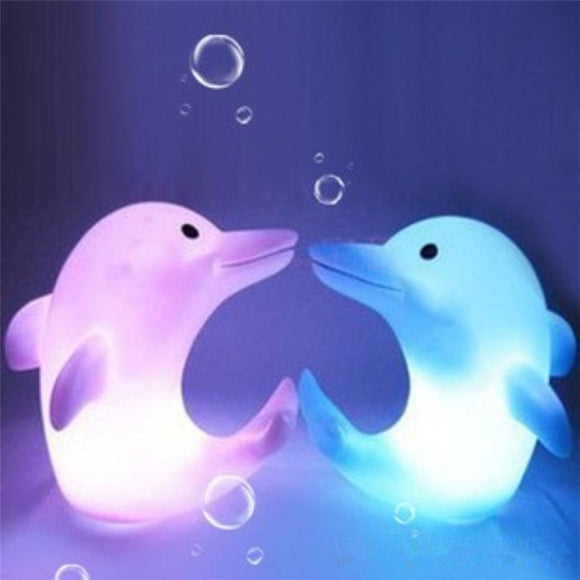Hot Sale Colorful Dolphin LED Nightlights Novelty Toys