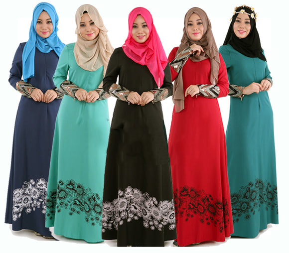 M-2XL Islamic Abaya Dresses Malaysian Design