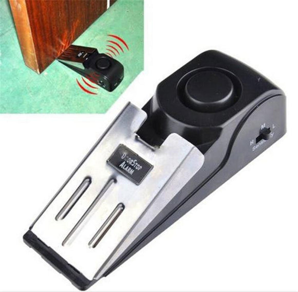120 dB Stop System Security Home Wedge Shaped Door Stop Stopper Alarm Block Blocking Systerm - TriggerKart