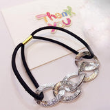 Women Girl Hair Ring Hollow Hair Tie Head Hair Accessory  BK 2pcs