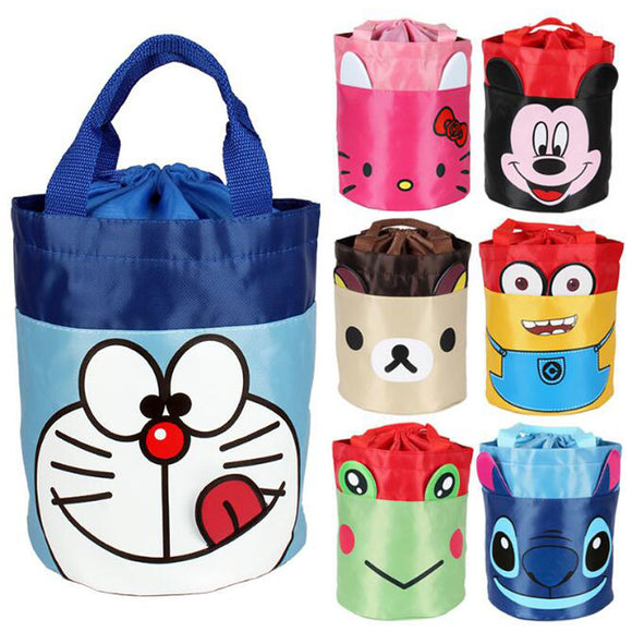 Cartoon Hello And Kitty Portable Waterproof Storage Container Lunch Box Picnic Bag