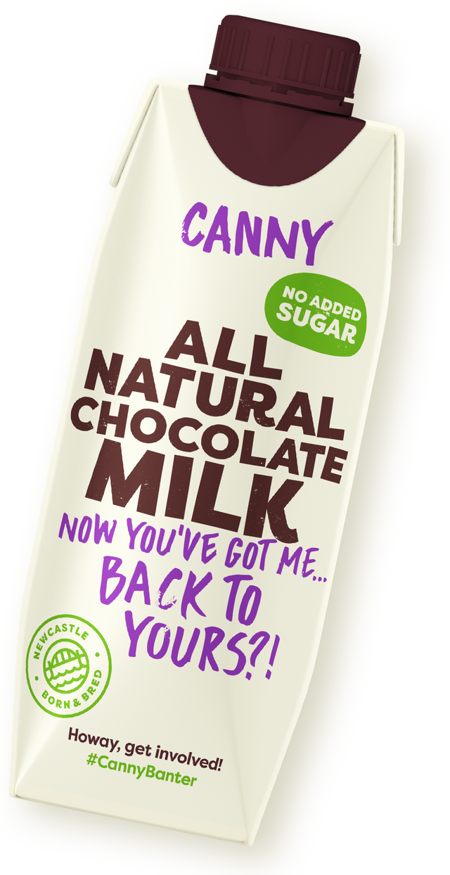 Our spanking new Canny Chocolate Milk Carton