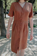 PARIS - Silk Brown Dress