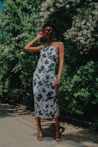Paris - Linen floral Dress