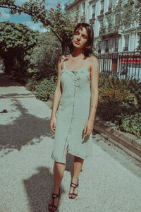 LAZY GIRL - Linen Dress