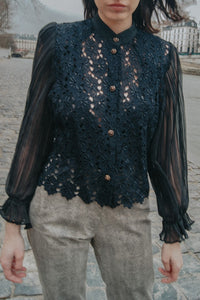 PARIS - Black Lace Shirt