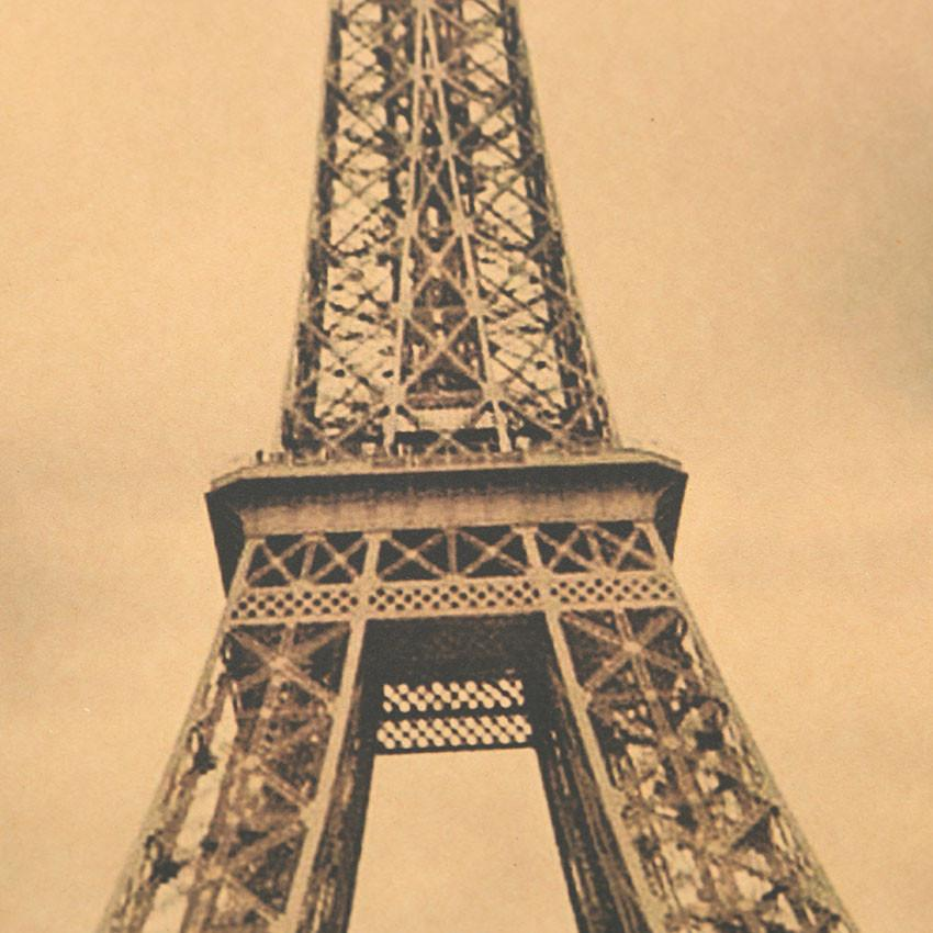 TIE LER Paris Eiffel Tower Nostalgia Photo Kraft Paper Bar Poster ...
