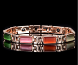 Magnetic Therapy Bracelet, 18K Rose Gold Plated