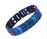 Magnetic Therapy Bracelet, Titanium Steel Bio Elements Energy Bracelet