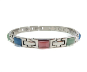 Magnetic Therapy Bracelet, Stainless Steel Power Bracelet with 3 Smart Buckles (Multi-Color)