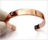 Magnetic Therapy Bracelet, 12-Magnet Copper Bangle for Effective Arthritis Therapy