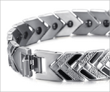 Magnetic Therapy Bracelet, Stainless Steel Bio Energy