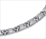Magnetic Therapy Bracelet, Ladies Energy Bracelet with Crystal Hand Chain