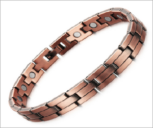 Magnetic Therapy Bracelet, Bronzed Copper 8mm with Magnet for Arthritis Pain Relief