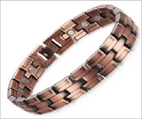 Magnetic Therapy Bracelet, Bronzed Copper 12mm with Magnet for Arthritis Pain Relief