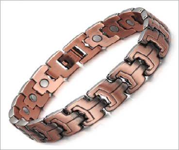 Magnetic Therapy Bracelet, Bronzed Copper Vintage 12mm  with Magnet for Arthritis Pain Relief