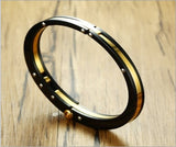 Style Bracelet, Stylish Closure Cuff Bracelet for Men, Black & Gold, Bijoux