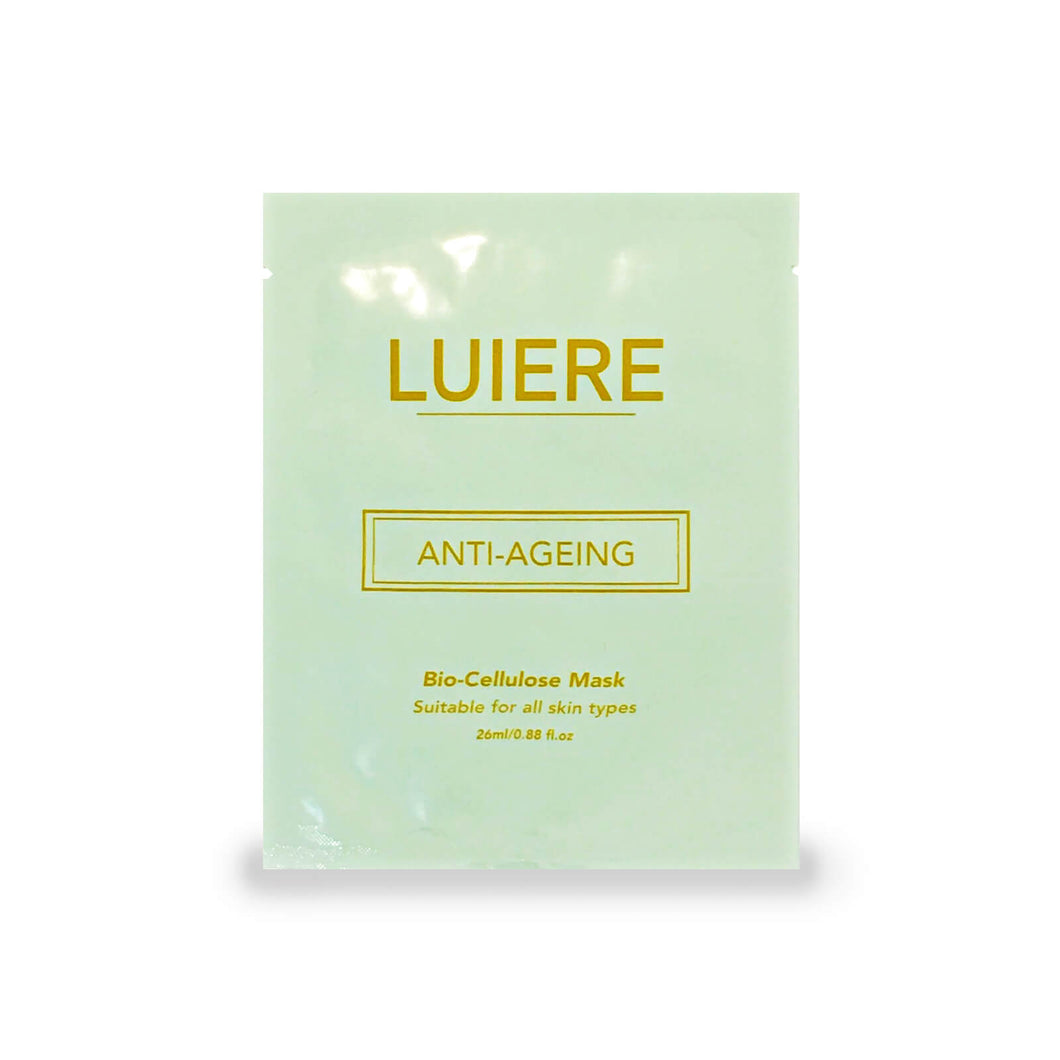 LUIERE,  Anti-ageing, bio-cellulose face mask, with lipidure, centella, peptide