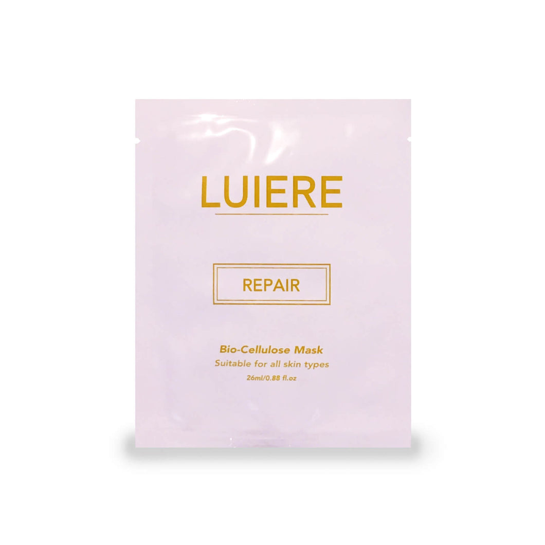 LUIERE, Repair bio-cellulose face mask with Lipidure. Hydrating sheet mask