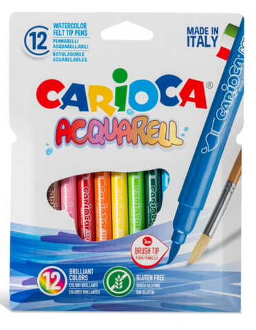 Carioca Aquarell water color felt tip pens 12 pcs