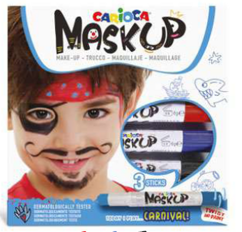 Carioca Mask Up Face paint set of 3