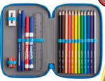 Carioca pencil case 2 zip