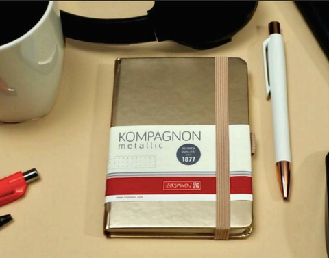 Kompagen Gold Diary and White Gold Pen