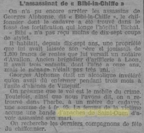 L'assassinat de Bibi-la-Chiffe