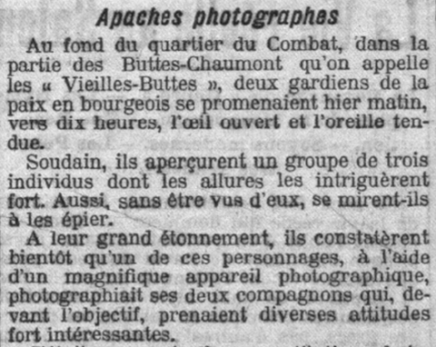 Apaches photographes