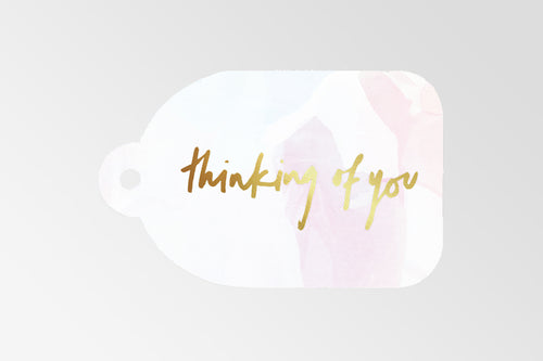 RACHEL KENNEDY FOIL GIFT TAG: THINKING OF YOU