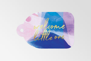 RACHEL KENNEDY GIFT TAG: WELCOME LITTLE ONE