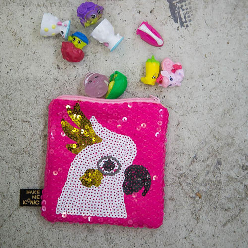 ICONIC SEQUIN PURSE | COCKATOO