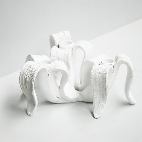 BANANA CANDLE HOLDER | WHITE | WHITE MOOSE