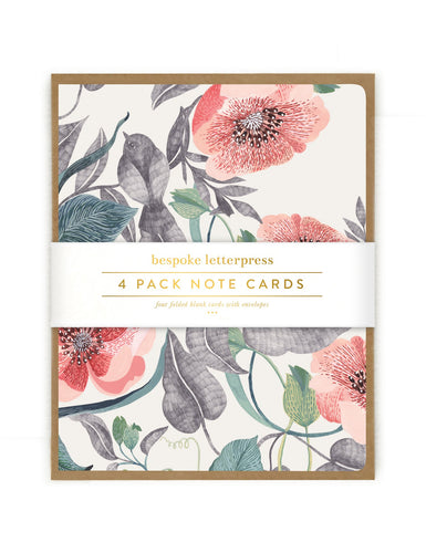 BLOMSTRA BIRD CARDS | 4 PACK | BEPOKE LETTERPRESS