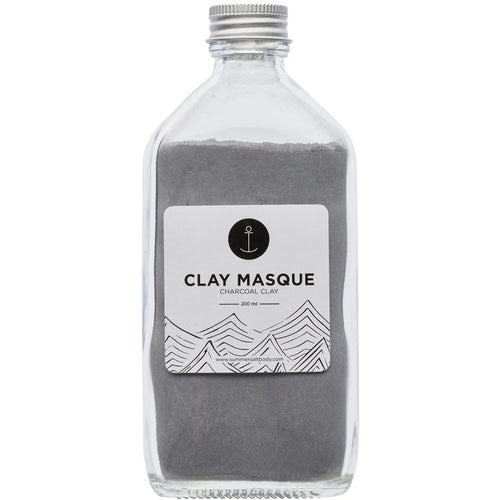 SUMMER SALT BODY CLAY MASQUE: CHARCOAL