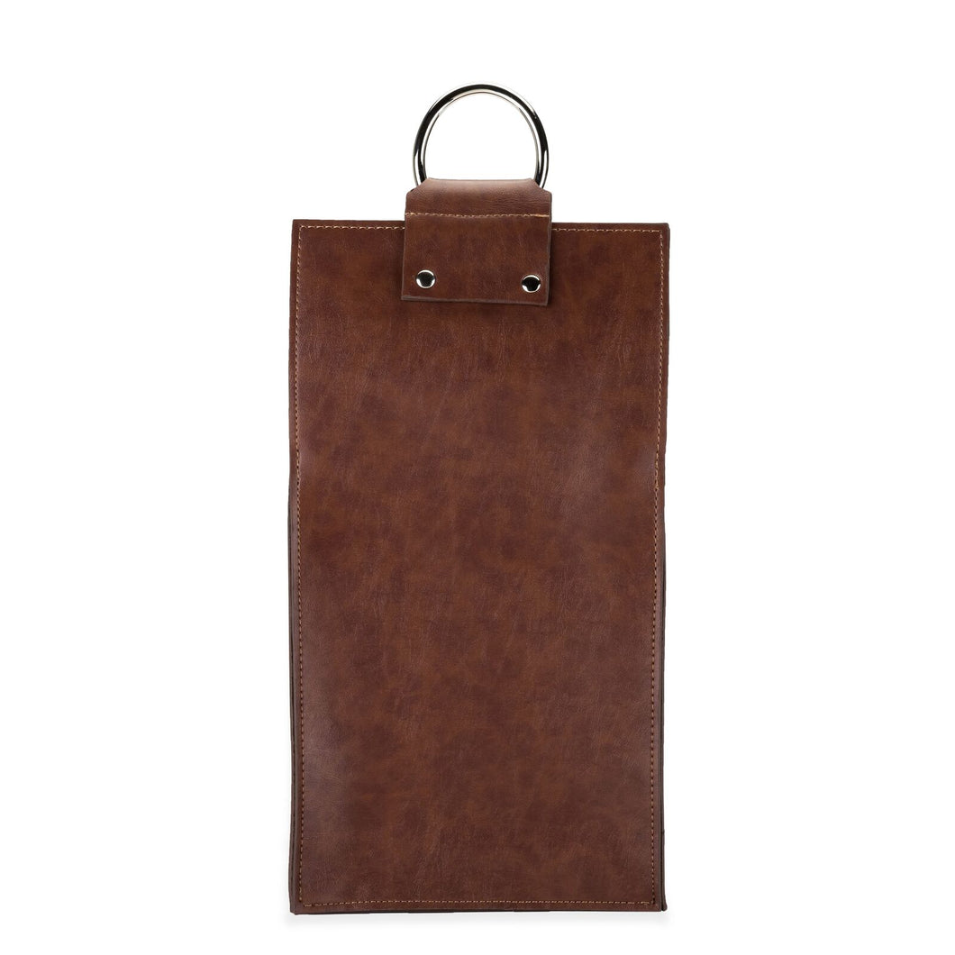 DOUBLE WINE TOTE | FAUX LEATHER